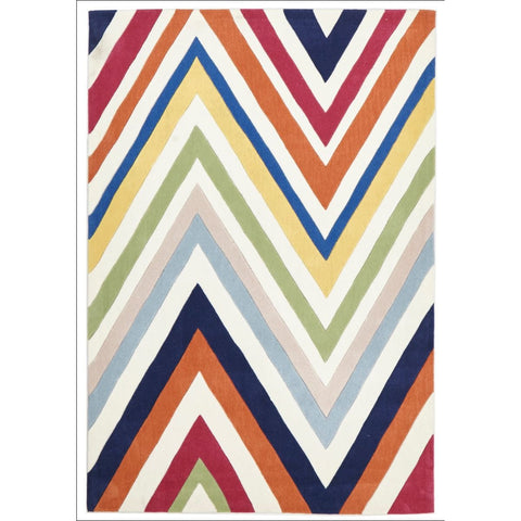 Stunning Multi Coloured Chevron Rug - Rugs Of Beauty