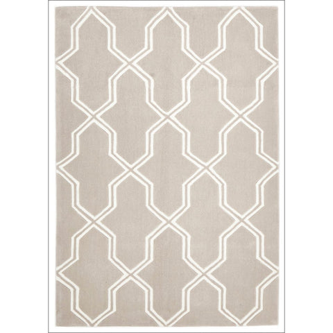 Neo Lattice Trellis Design Rug Natural - Rugs Of Beauty - 1