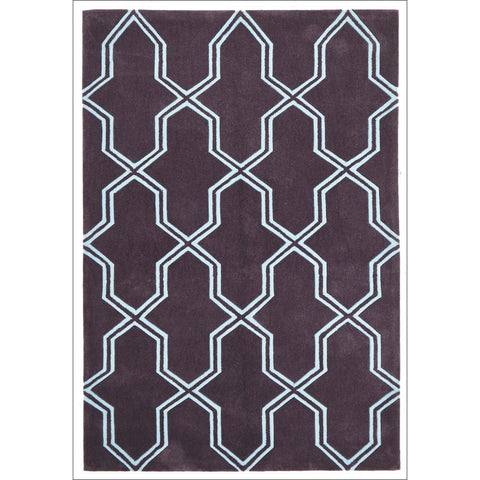 Neo Lattice Design Trellis Contemporary Rug Smoke - Rugs Of Beauty