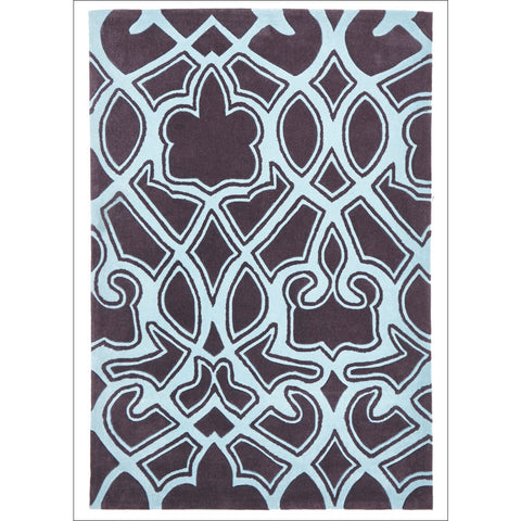 Gothic Tribal Design Rug Smoke Grey and Blue - Rugs Of Beauty