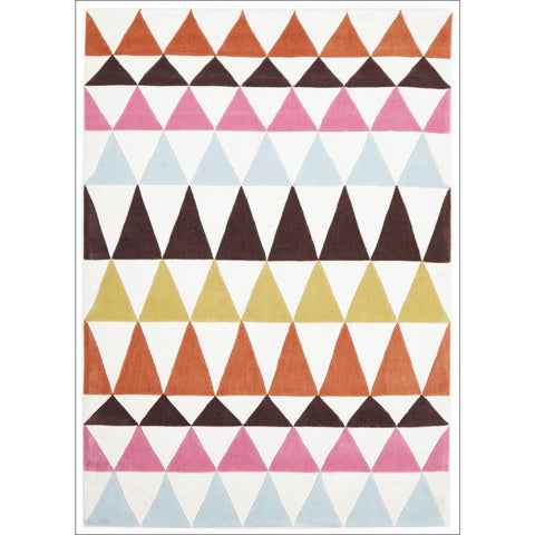 Modern Bunting Design Rug Multi Rust - Rugs Of Beauty