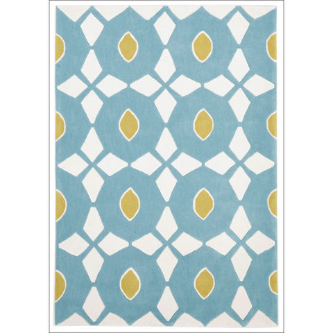 Blue and Yellow Nest Rug - Rugs Of Beauty - 1