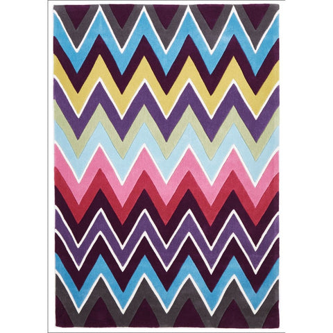 Eclectic Chevron Rug Multi Coloured - Rugs Of Beauty