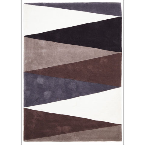 Cascade Modern Rug Brown Grey - Rugs Of Beauty