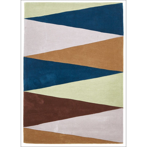 Cascade Modern Rug Blue Green Brown - Rugs Of Beauty