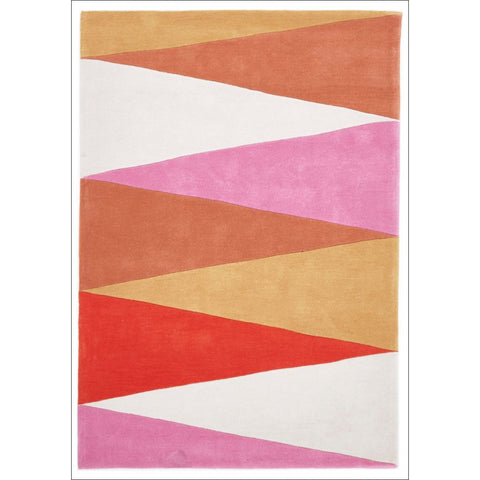 Cascade Modern Rug Rust Pink - Rugs Of Beauty