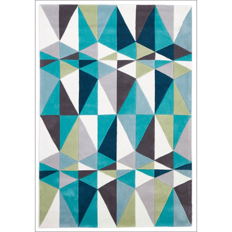 Blue and Grey Crystal Designer Rug - Rugs Of Beauty
