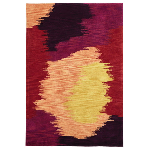 Daydream Abrash Modern Rug Crimson - Rugs Of Beauty