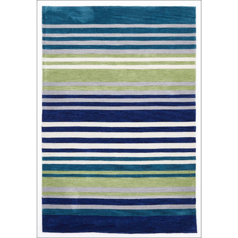 Modern Abrash Stripes Rug Blue Green - Rugs Of Beauty