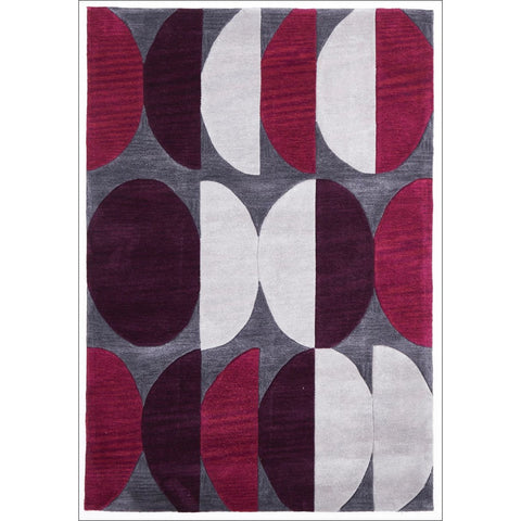 Eclipse Modern Rug Aubergine Grey - Rugs Of Beauty