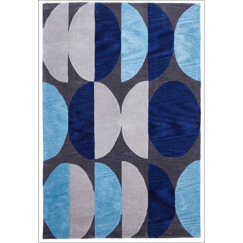 Eclipse Modern Rug Blue Navy Grey - Rugs Of Beauty