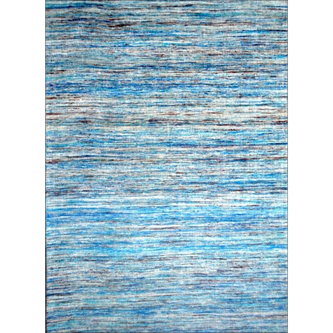 Handwoven Sari Silk Rug - Chocho 1026 - Aqua Blue - Rugs Of Beauty