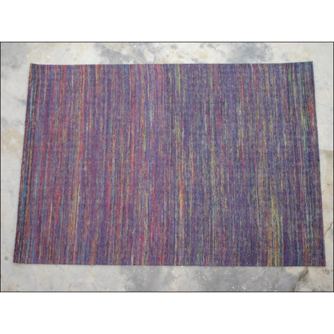 Handwoven Beautiful Flatweave Sari Silk Rug - Chocho 1090 - Purple - Rugs Of Beauty