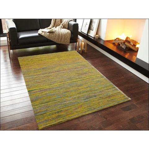 Handwoven Sari Silk Rug - Chocho 1091 - Yellow - Rugs Of Beauty