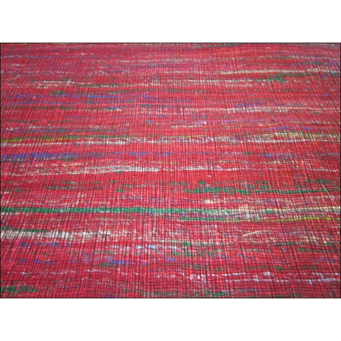 Handwoven Flatweave Sari Silk Rug - Chocho 1092 - Red - Rugs Of Beauty