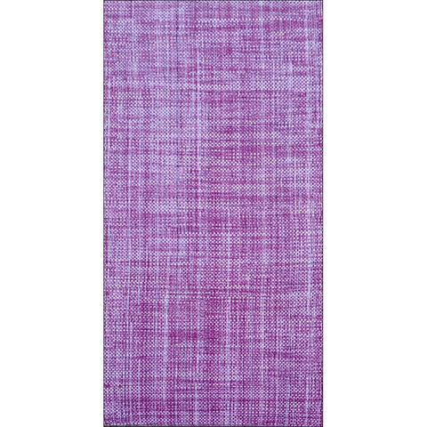 Handwoven Cotton Durrie Rug - Galleria-Purple / Ivory Designer Rug - Rugs Of Beauty