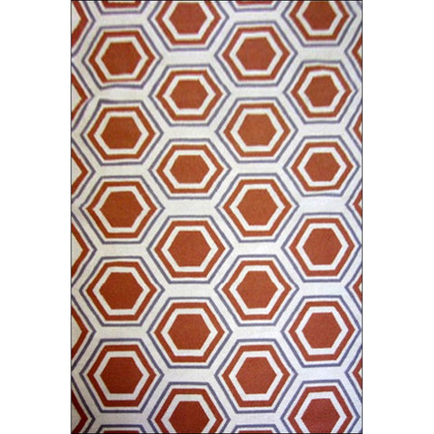 Handwoven Woollen Durrie Rug - Sweden 1036 - Apricot - Rugs Of Beauty