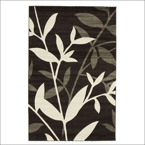 Stunning Spring Leaf Rug Dark Brown - Rugs Of Beauty - 1
