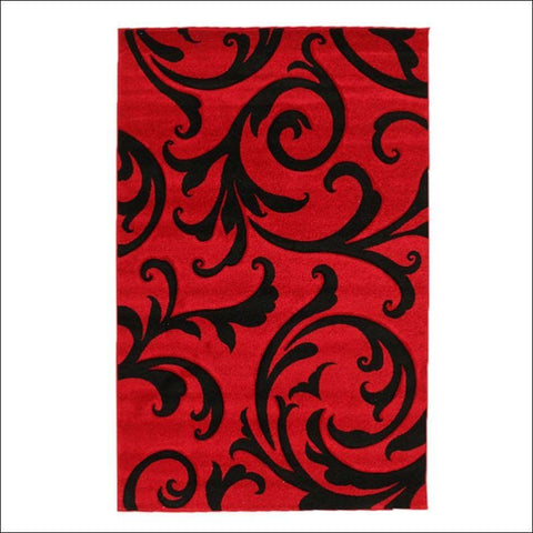 Stunning Thick Damask Rug Red - Rugs Of Beauty - 1