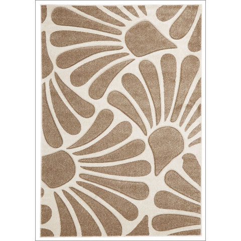 Damask Modern Fern Rug Natural - Rugs Of Beauty - 1