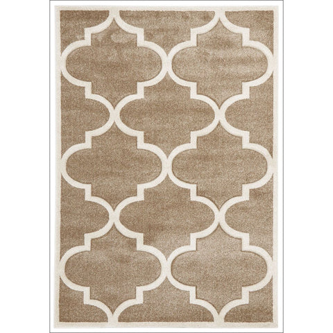 Large Modern Trellis Rug Beige - Rugs Of Beauty - 1