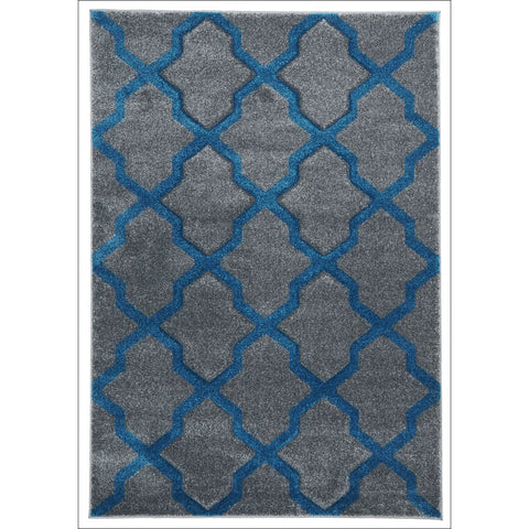 Cross Hatch Trellis Modern Rug Grey - Rugs Of Beauty - 1