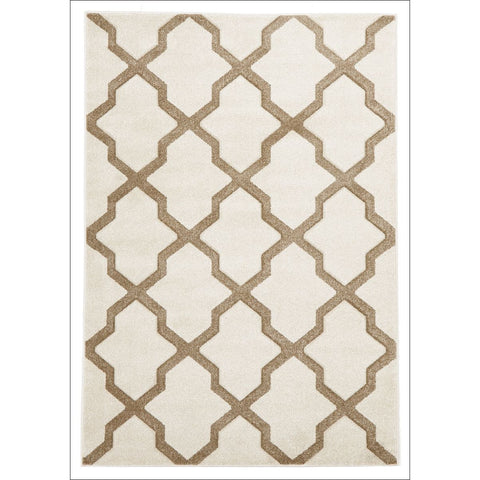 Cross Hatch Modern Trellis Rug Natural - Rugs Of Beauty - 1