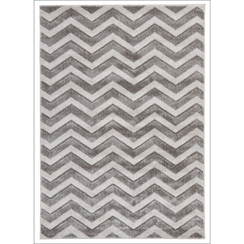 Modern Chevron Design Rug Silver - Rugs Of Beauty - 1