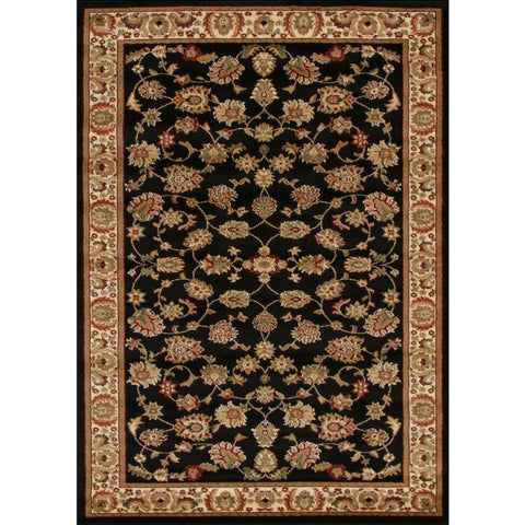 Traditional Floral Pattern Rug Black - Rugs Of Beauty