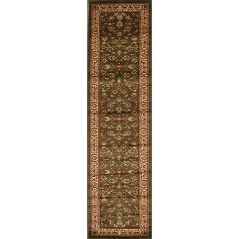 Lafia 752 Green Traditional Floral Pattern Runner Rug - Rugs Of Beauty - 1