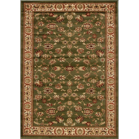 Traditional Floral Pattern Rug Green - Rugs Of Beauty