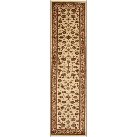 Lafia 752 Ivory Traditional Floral Pattern Runner Rug - Rugs Of Beauty - 1