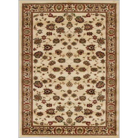 Traditional Floral Pattern Rug Ivory - Rugs Of Beauty - 1