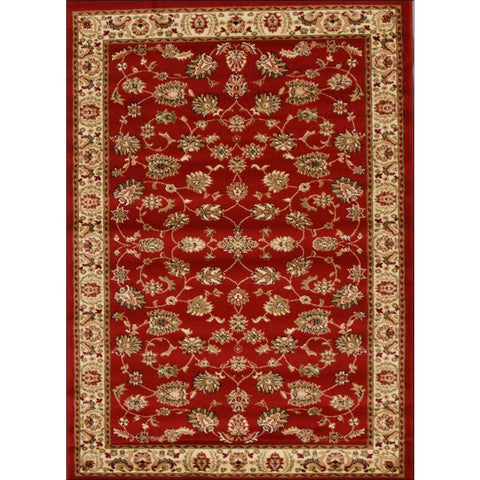 Lafia 752 Red Traditional Floral Pattern Rug - Rugs Of Beauty - 1