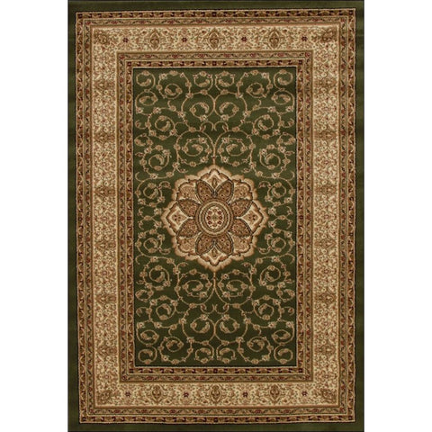 Medallion Classic Pattern Traditional Rug Green - Rugs Of Beauty