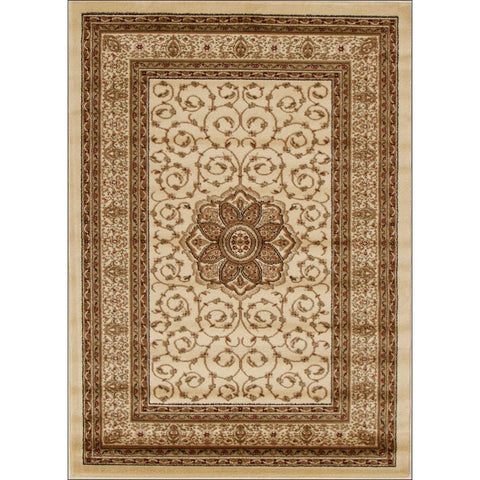 Medallion Classic Pattern Traditional Rug Ivory - Rugs Of Beauty