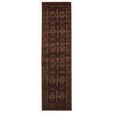 Lafia 753 Red Traditional Pattern Runner Rug - Rugs Of Beauty - 1