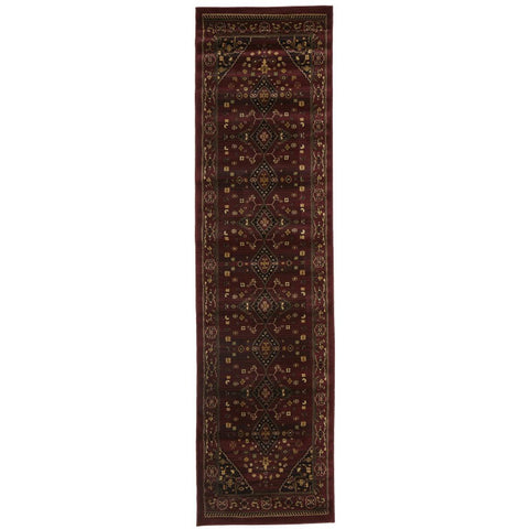 Lafia 754 Red Traditional Floral Pattern Runner Rug - Rugs Of Beauty - 1