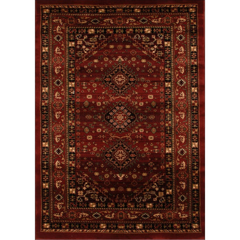 Traditional Shiraz Design Rug Burgundy Red - Rugs Of Beauty - 1