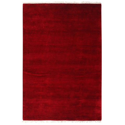 Pakhet Red Traditional Silk Nepal Rug - Rugs Of Beauty