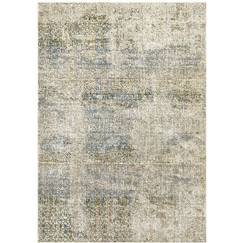 Amunet Blue Brown Multi Coloured Faded Transitional Patterned Rug - Rugs Of Beauty - 1