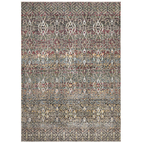 Amunet Multi Coloured Faded Transitional Circle Patterned Rug - Rugs Of Beauty - 1