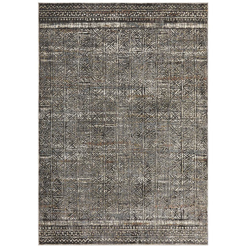 Amunet Grey Moroccan Multi Coloured Faded Transitional Patterned Rug - Rugs Of Beauty - 1