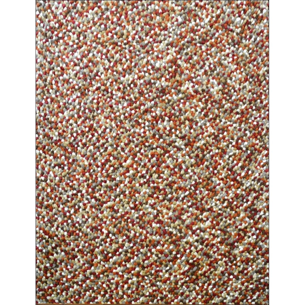 Handwoven Cosy Wool Rug Jelly Bean Autumn Rugs Of Beauty