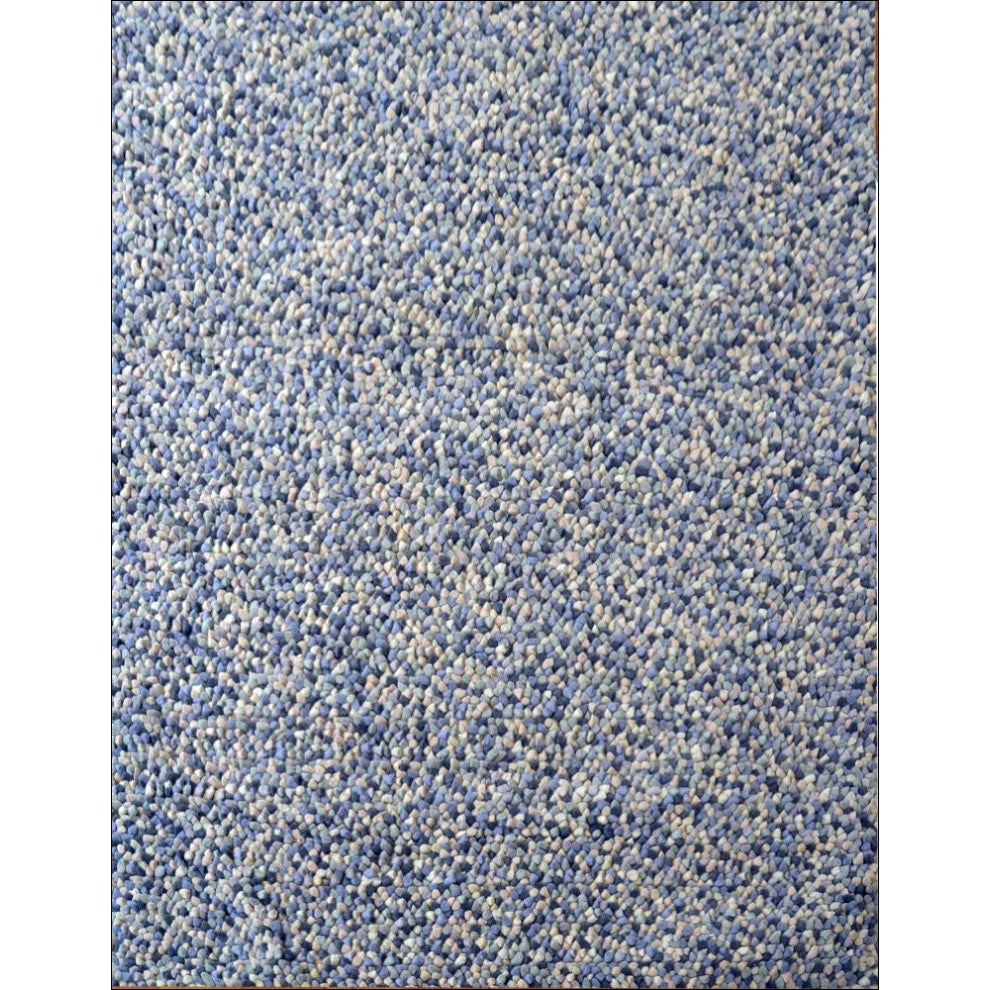 Handwoven Cosy Wool Rug Jelly Bean Blue Rugs Of Beauty