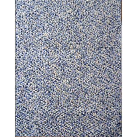 Handwoven cosy wool Rug - Jelly Bean - Blue - Rugs Of Beauty