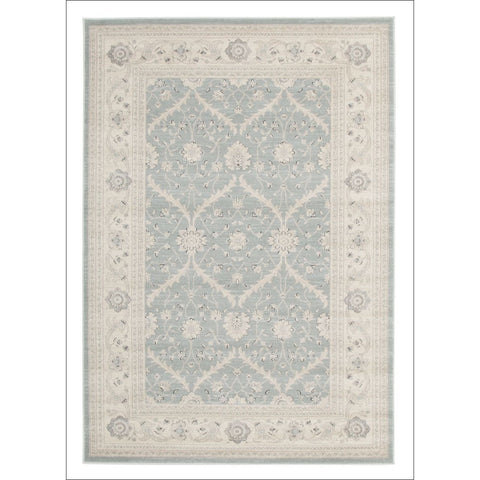 Chobi Transitional Design Rug Light Blue Bone - Rugs Of Beauty - 1