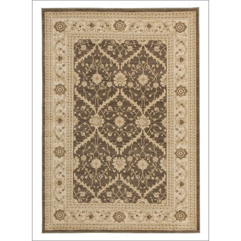 Chobi Transitional Design Rug Brown Bone - Rugs Of Beauty