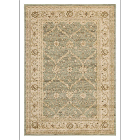 Chobi Transitional Design Rug Light Green Bone - Rugs Of Beauty - 1