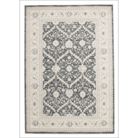 Chobi Transitional Design Rug Navy Grey Bone - Rugs Of Beauty - 1